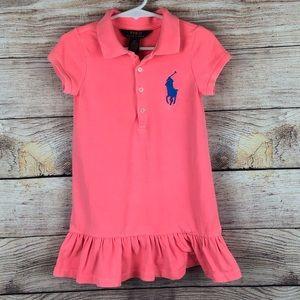 Girls 2T Polo Ralph Lauren Stretch Mesh Dress